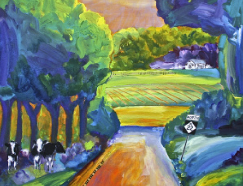 "Painting of the Week: ""The Cows, the Vines, the Trees and M22"""