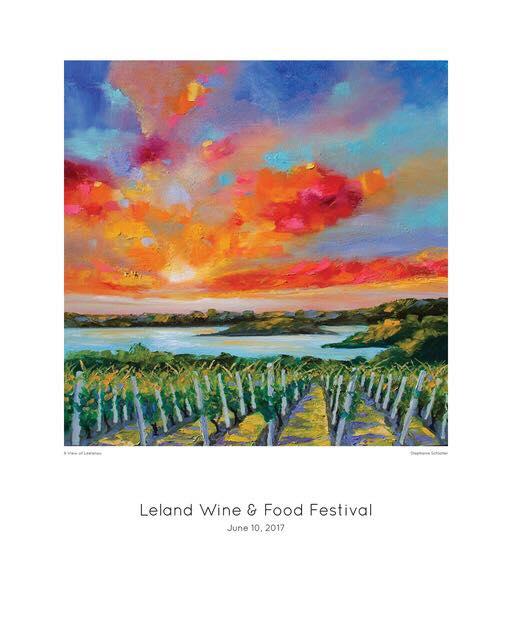 2017 Leland Wine Festival Poster - Artwork by Stephanie Schlatter