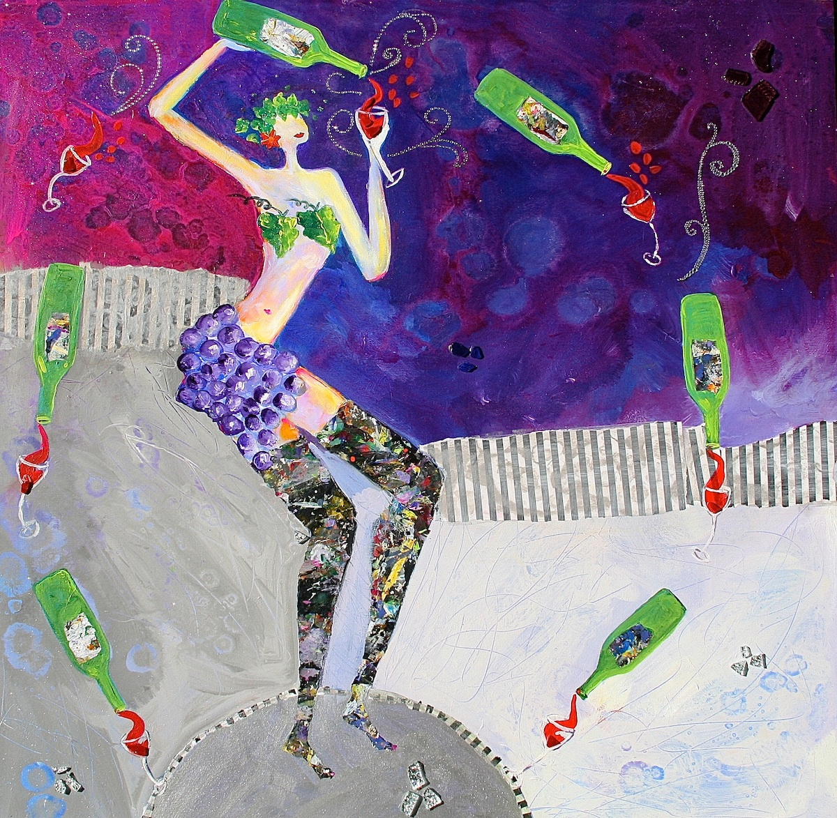 Goddess of Wine - Painting by Stephanie Schlatter