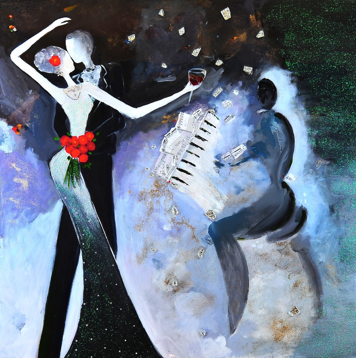 The Dance Goddess of Wine - Painting by Stephanie Schlatter