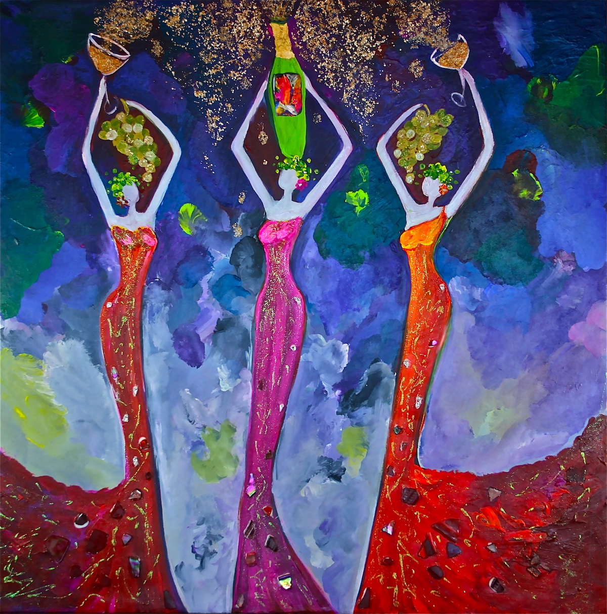 Muse - Goddess of Wine Painting by Stephanie Schlatter