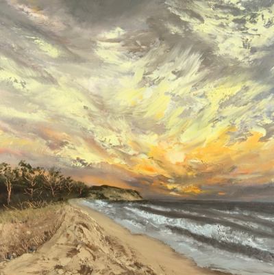 Lake Michigan Series - Painting by Stephanie Schlatter