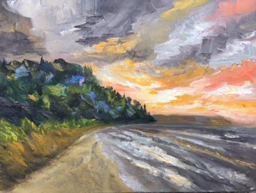 Whaleback Natural Area - Painting by Stephanie Schlatter