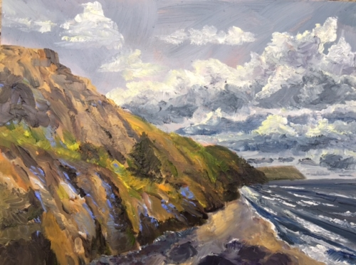 Leelanau Clay Cliffs Natural Area Painting by Stephanie Schlatter