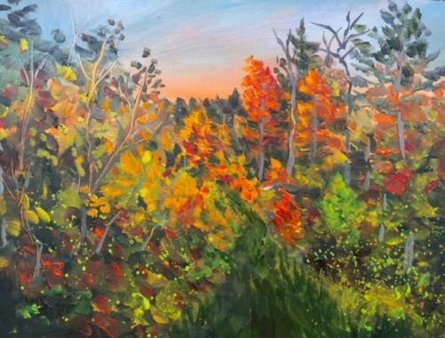 Fall in Leelanau - Painting by Stephanie Schlatter
