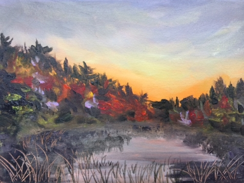 Kehl Lake - Painting by Stephanie Schlatter