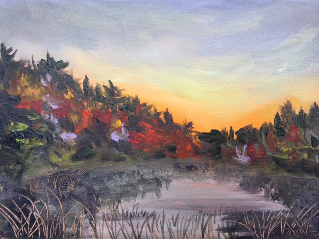 Kehl Lake - Painting by Stephanie Schlatter