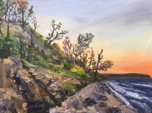 Clay Cliffs in Leelanau County Painting by Stephanie Schlatter Art