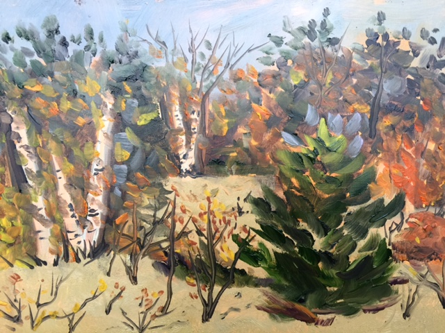 Houdek Dunes Natural Area - Painting by Stephanie Schlatter