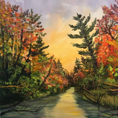 Crystal River in Fall - Painting by Stephanie Schlatter