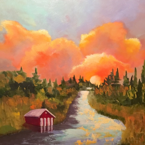Leelanau Narrows - Painting by Stephanie Schlatter