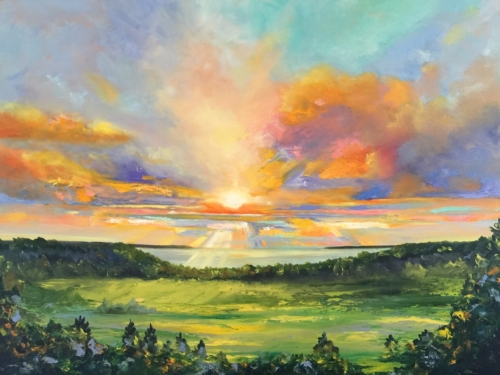 A Long View - Painting by Stephanie Schlatter