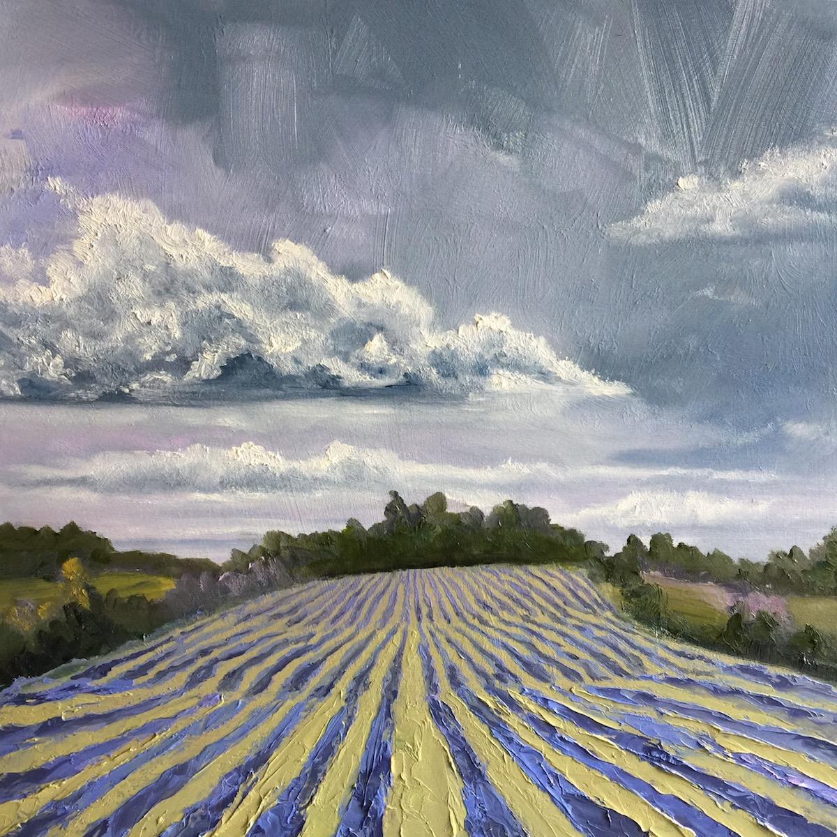 Blustone Vineyards - Painting by Stephanie Schlatter