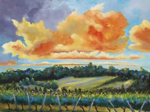 L Mawby Vineyards - Stephanie Schlatter Painting
