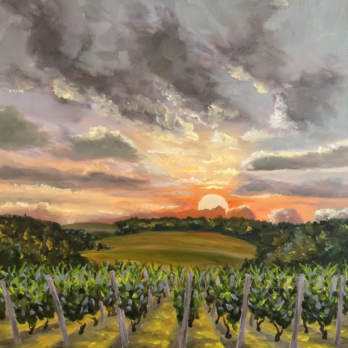 Rolling Vines - Painting by Stephanie Schlatter