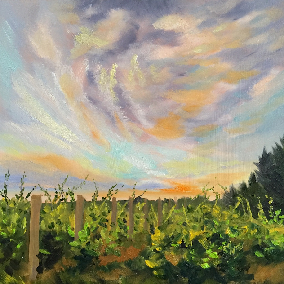 Silver Leaf Winery - Painting by Stephanie Schlatter