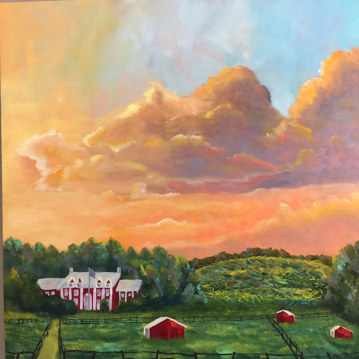 Black Star Farms - Painting by Stephanie Schlatter