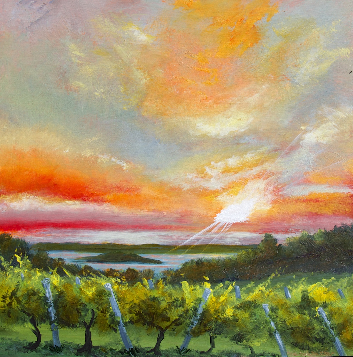 Ciccone Vineyards - Painting by Stephanie Schlatter Art