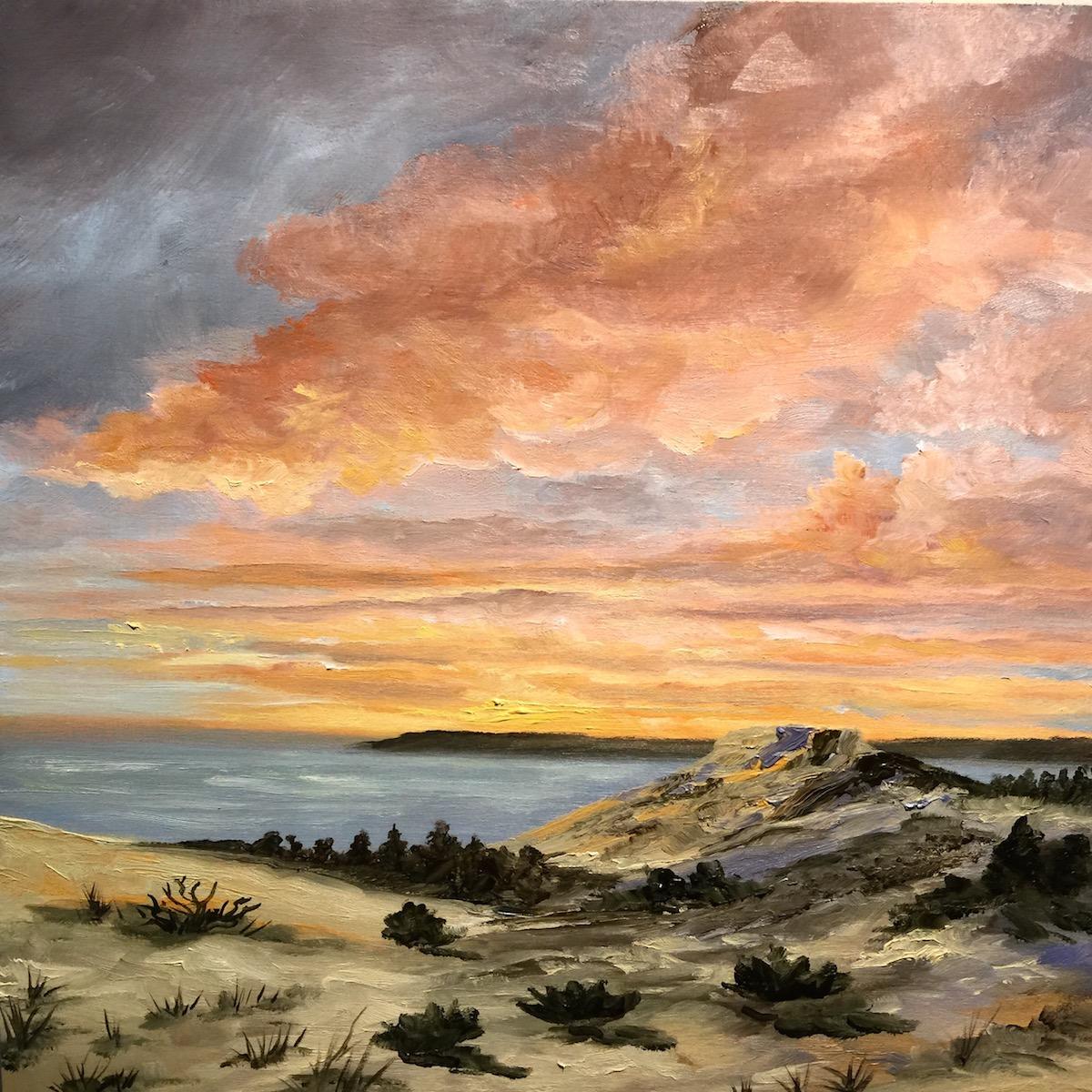 Sleeping Bear Trail Painting - Stephanie Schlatter