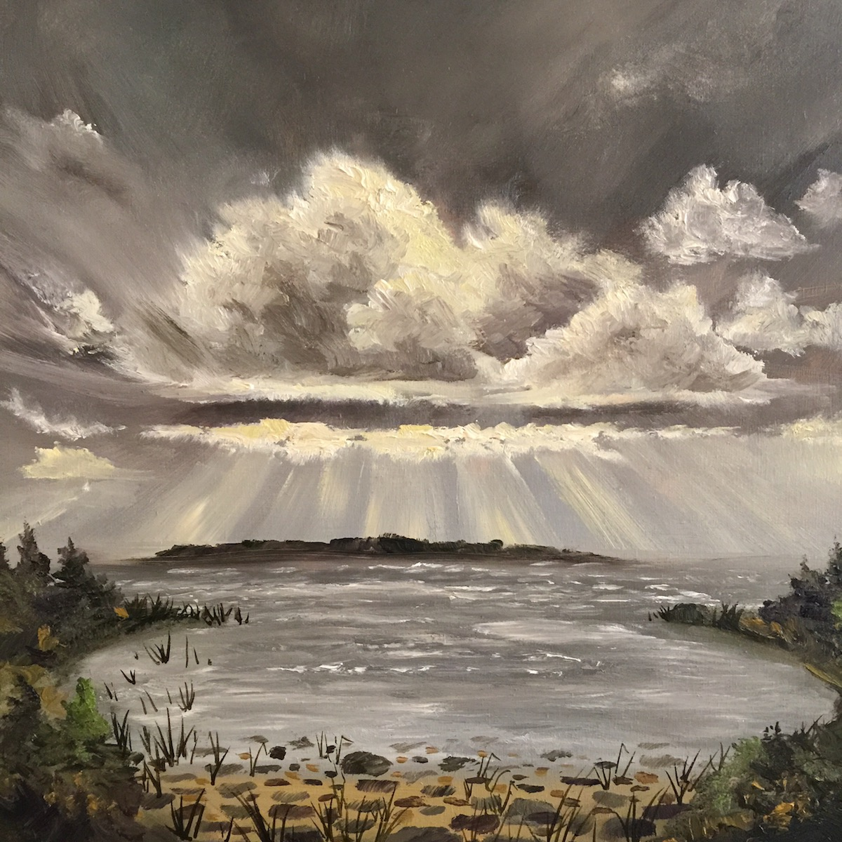 Cathead Bay - Painting by Stephanie Schlatter