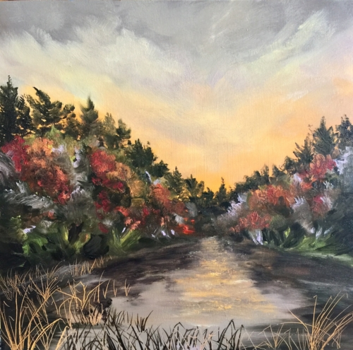 Lake Life - Painting by Stephanie Schlatter