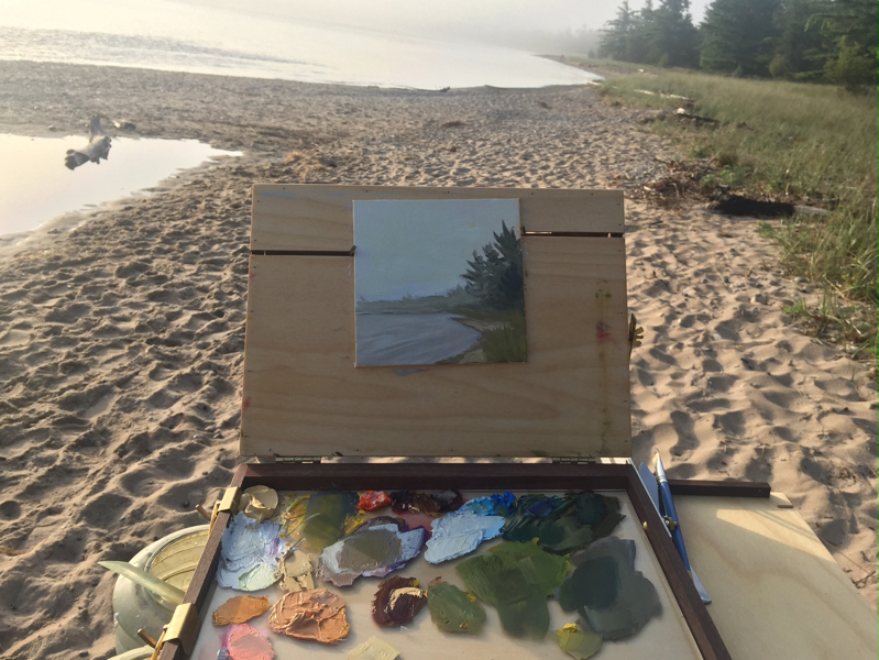 Foggy Painting on the Beach