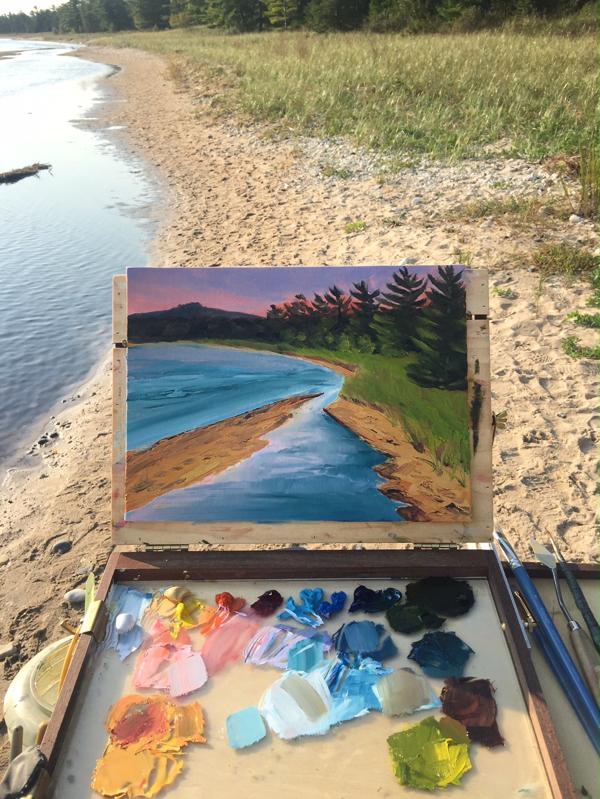 Plein Painting: Shoreline