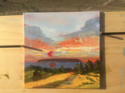Plein air painting: Sunrise