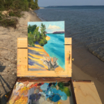 Plein air painting: Lake
