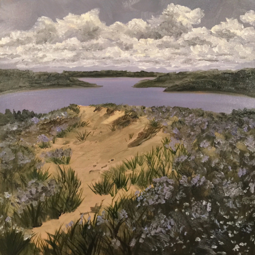 Glen Lakes View - Painting by Stephanie Schlatter