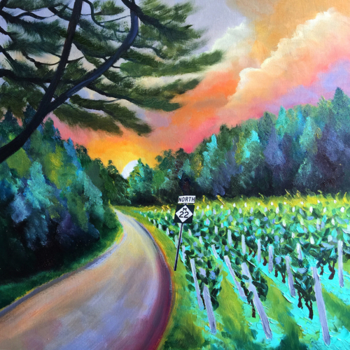 M22 Road of Dreams - Painting by Stephanie Schlatter