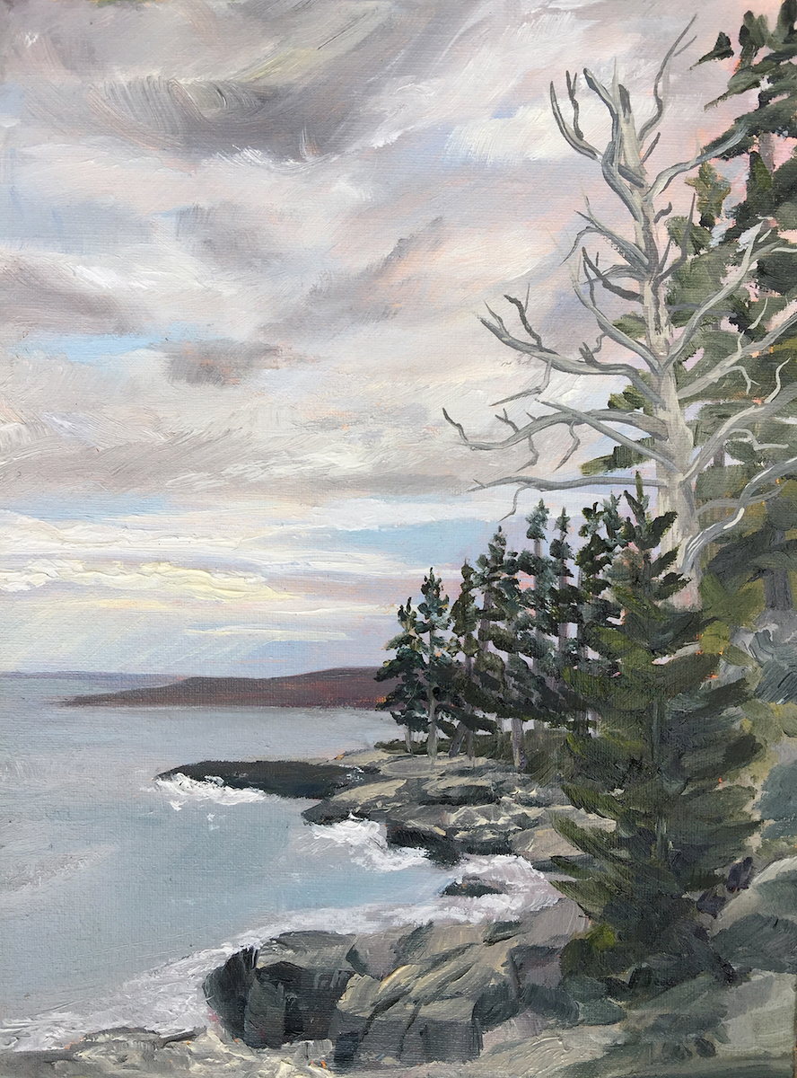 Coastal View Sublime - Painting by Stephanie Schlatter