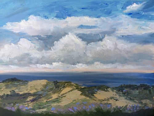 Cottonwood View - Painting by Stephanie Schlatter