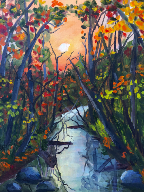 Crystal River Goodness - Painting by Stephanie Schlatter