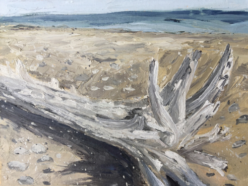 Driftwood Found - Painting by Stephanie Schlatter