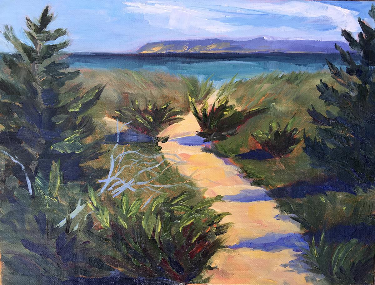 Glen Haven Passage - Painting by Stephanie Schlatter