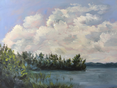Inland Lake Dreamin - Painting by Stephanie Schlatter