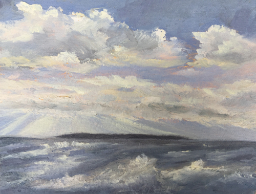 Lake Michigan Always A Good Idea - Painting by Stephanie Schlatter