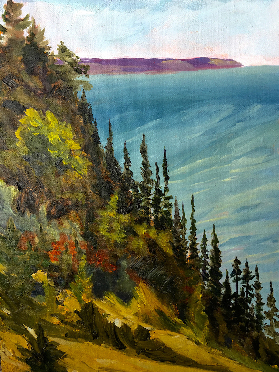 Port Oneida Views of the Big Lake - Painting by Stephanie Schlatter