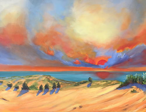 Red Sky at Night from Sleeping Bear Dunes (SOLD)