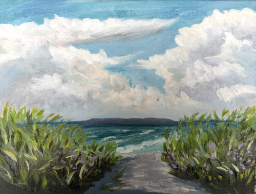 The Edge of it All - Painting by Stephanie Schlatter