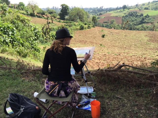 Painting Plein Air in Maji
