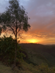 Sunset over Maji