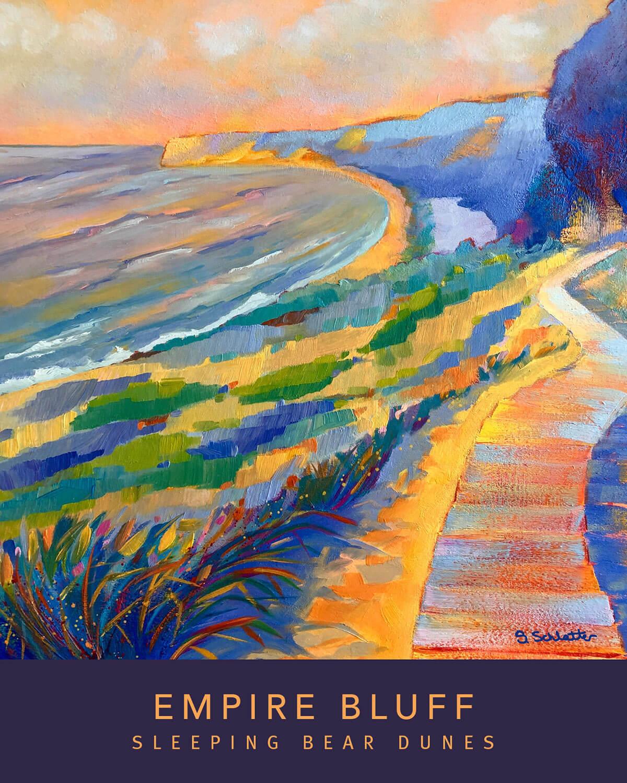 Empire Bluff poster - Stephanie Schlatter