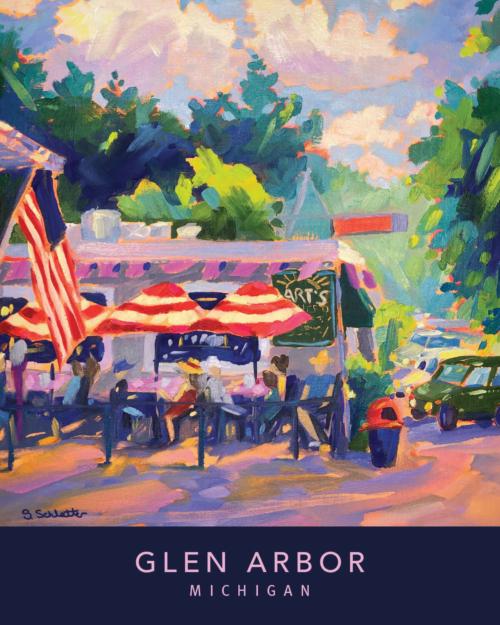 Glen Arbor poster - Stephanie Schlatter Art