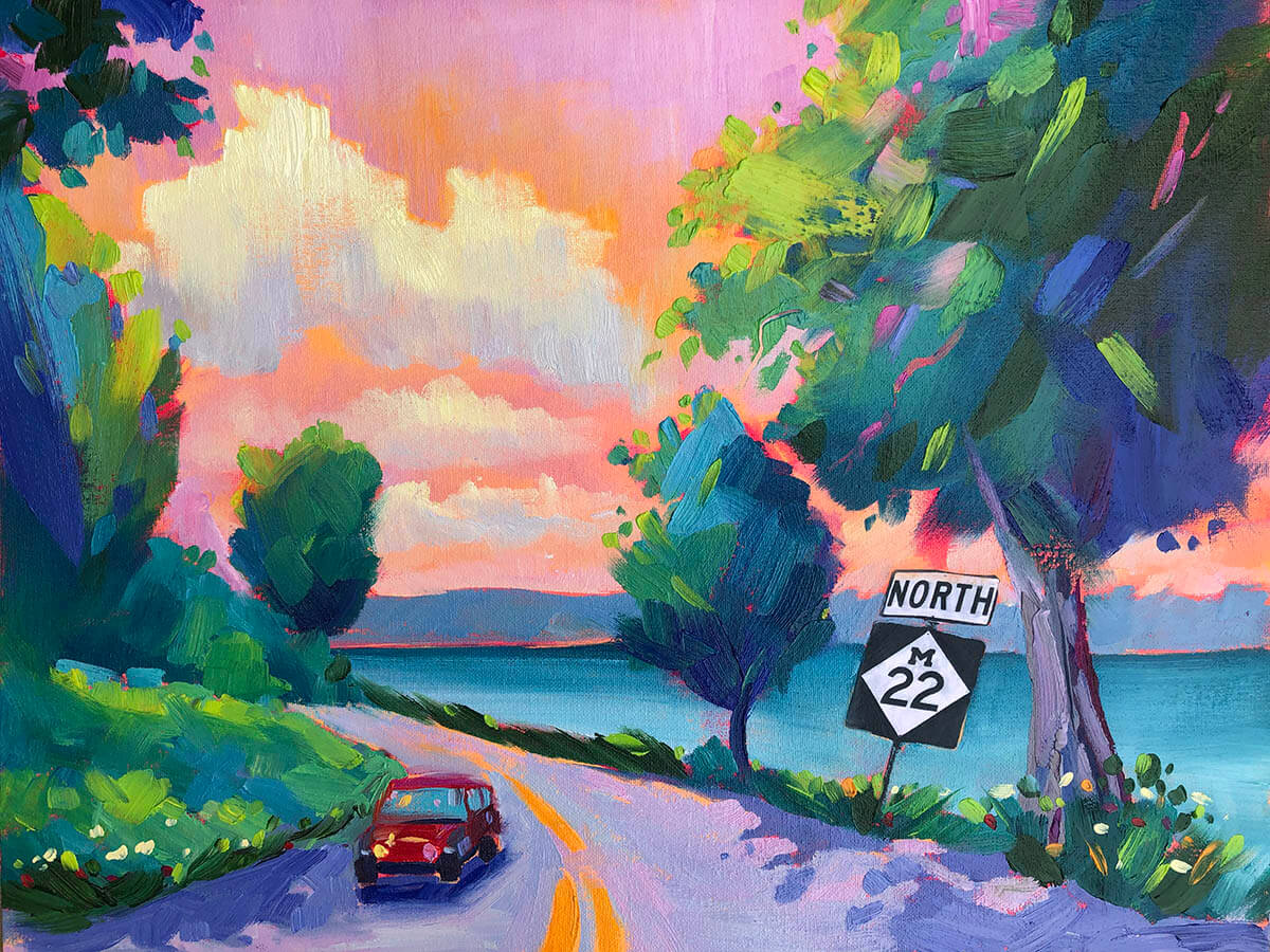 M22 Memories Made in Michigan painting by Stephanie Schlatter