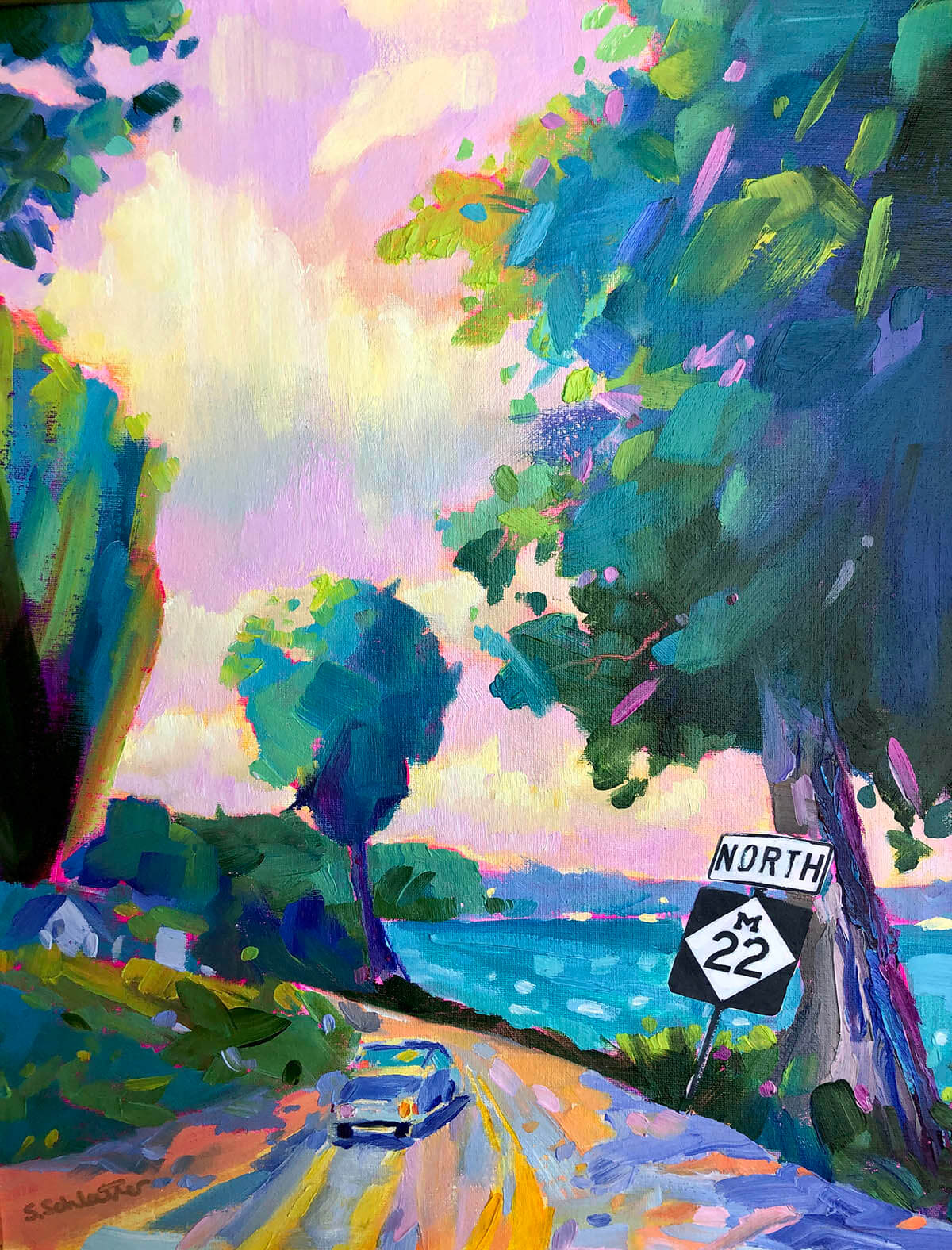 M22 Where You Want to Be painting by Stephanie Schlatter