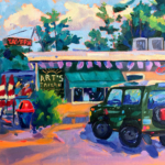 Parked in Paradise painting by Stephanie Schlatter