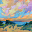 Sky Party painting by Stephanie Schlatter