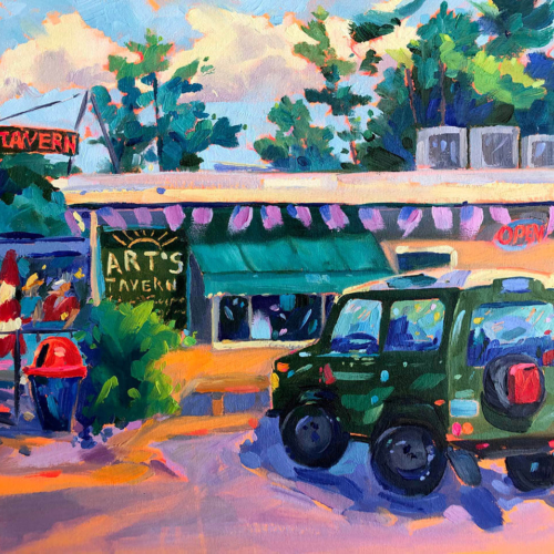 Parked in Paradise print - by Stephanie Schlatter